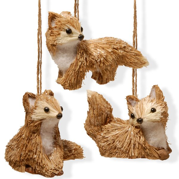 3 Piece Foxes Statue Set by National Tree Co.