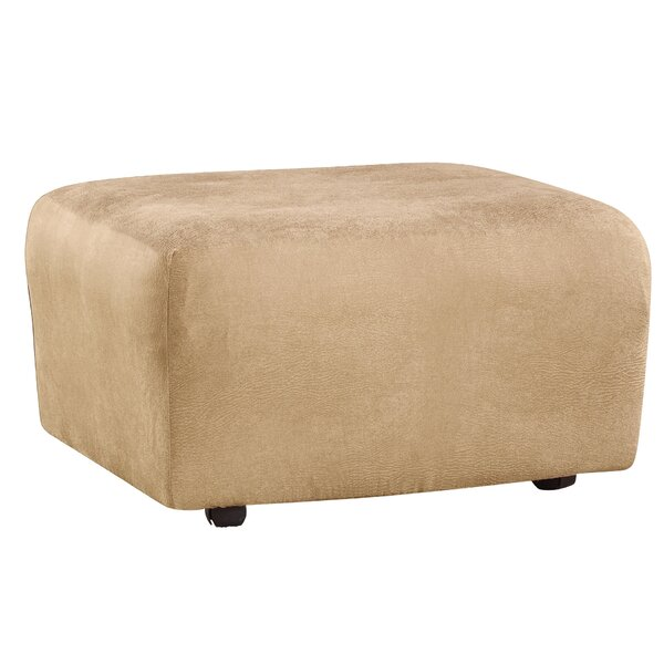 Stretch Leather Ottoman Slipcover by Sure Fit