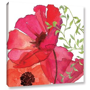 Vibrant Floral I Painting Print on Wrapped Canvas by Red Barrel Studio
