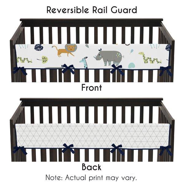 Mod Jungle Crib Rail Guard Cover by Sweet Jojo Designs