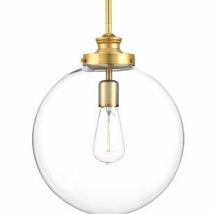 Brass globe pendants youll love wayfair cayden 1 light globe pendant aloadofball Choice Image