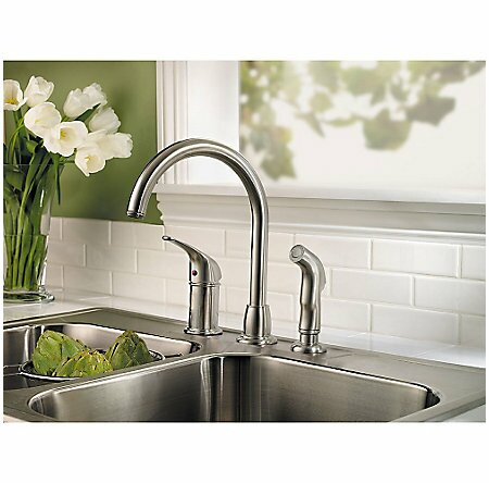 Cagney Pull Out Touch Single Handle Kitchen Faucet with Side Spray by Pfister Pfister