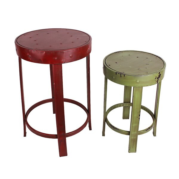Lamont 2 Piece French Stool Set by Williston Forge
