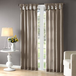 Rivau Solid Room Darkening Tab Top Single Curtain Panel