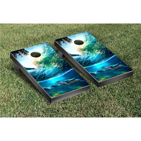 Tropical Wave Turtles Cornhole Game Set by Victory Tailgate