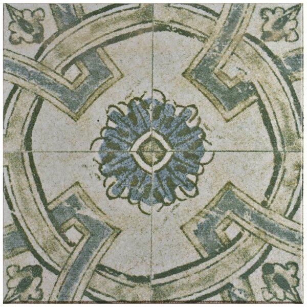 Shale 12.75 x 12.75 Ceramic Field Tile in Teal/Beige by EliteTile