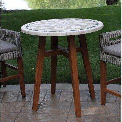 Jameson Stone/Concrete Bistro Table by Alcott Hill