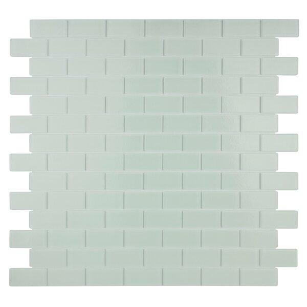 Quartz 0.75 x 1.63 Glass Mosaic Tile in White by Kellani