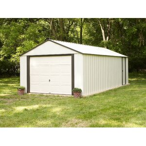 Murryhill 14 ft. 1 in. W x 21 ft. 9 in. D Metal Garage Shed