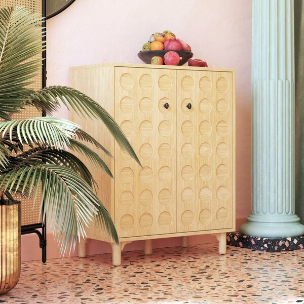 Saige Bar Cabinet by Bungalow Rose Bungalow Rose