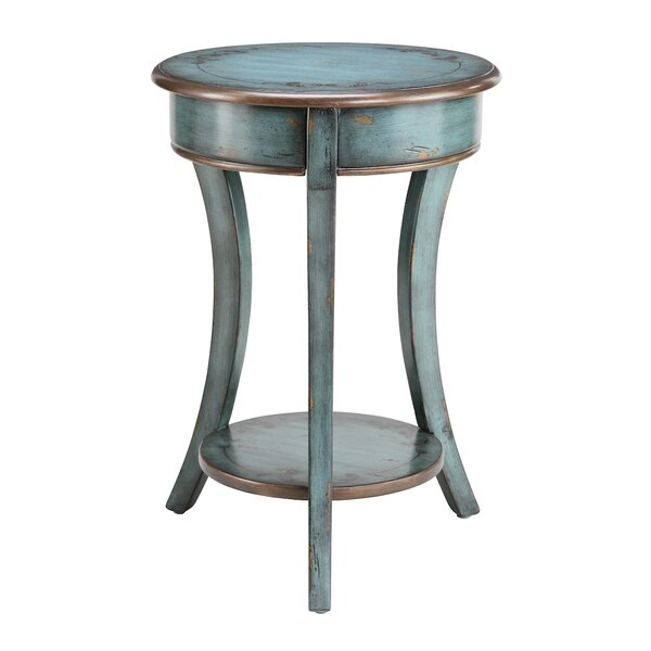 Dominick Curved Legs Accent Table by August Grove