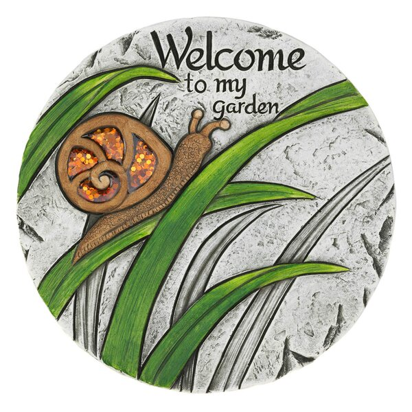 Lybarger Welcome to My Garden Stepping Stone by Winston Porter