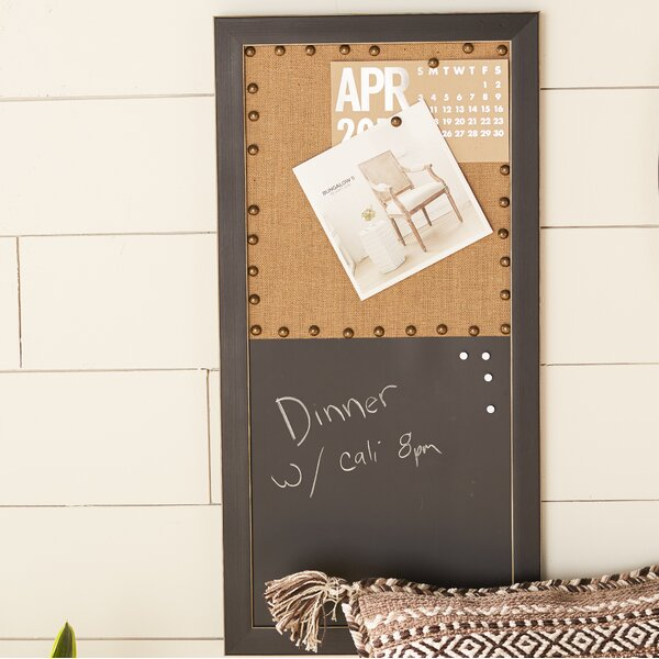 Magnetic Wall Mounted Chalkboard by Laurel Foundry Modern Farmhouse