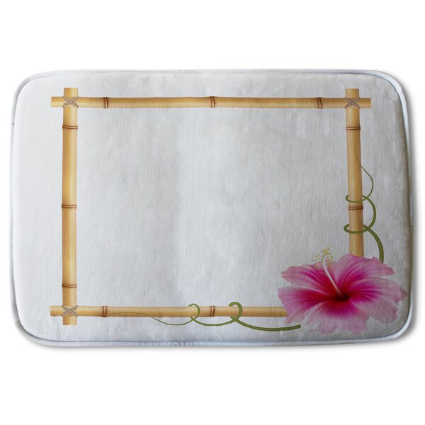 Toland Bamboo Border Designer Bath Rug