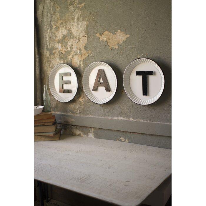 Tin Eat Sign Wall Decor