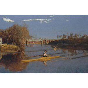 'Champion Single Sculls Max Schmidt' by Thomas Eakins Painting Print by Buyenlarge