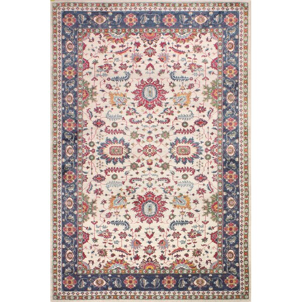 Fidela Ivory/Red Area Rug by Bungalow Rose