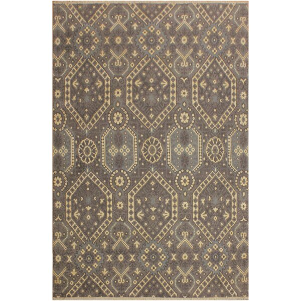 One-of-a-Kind Aahil Hand Knotted Wool Brown/Ivory Area Rug by Isabelline