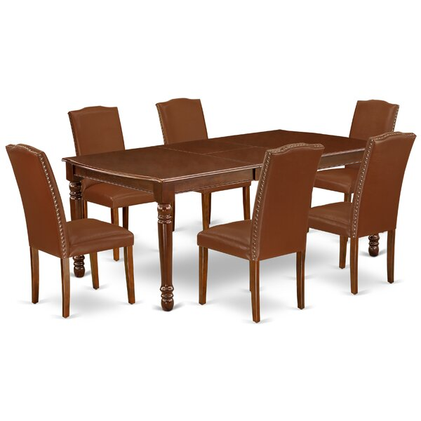 Marilynn 7 Piece Extendable Solid Wood Dining Set by Alcott Hill Alcott Hill
