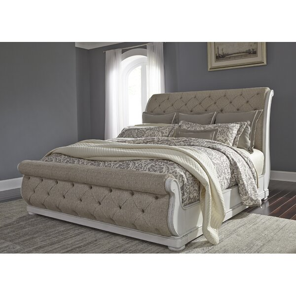 Ginyard Upholstered Sleigh Bed by Ophelia & Co.