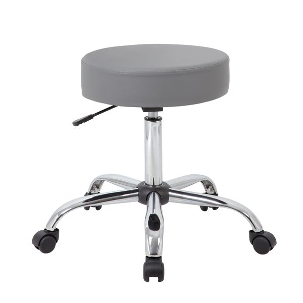 Soundview Adjustable Stool with Dual Wheel by Wrought Studio
