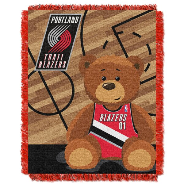 NBA Trailblazers Half Court Baby Throw by Northwest Co.
