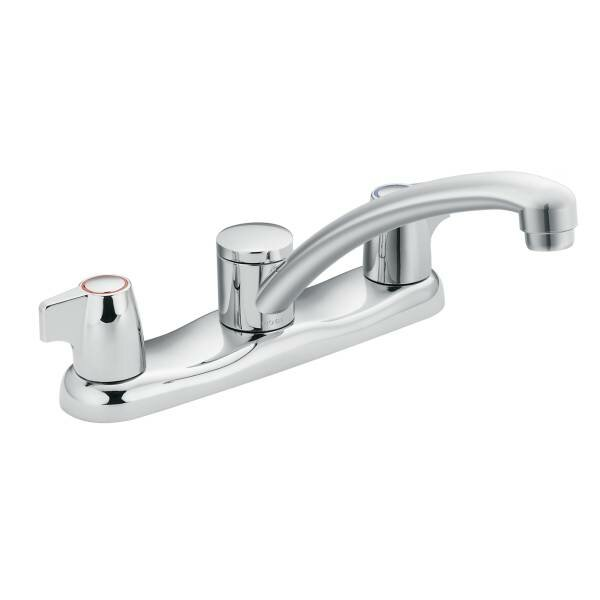 Chateau Double Handle Kitchen Faucet by Moen