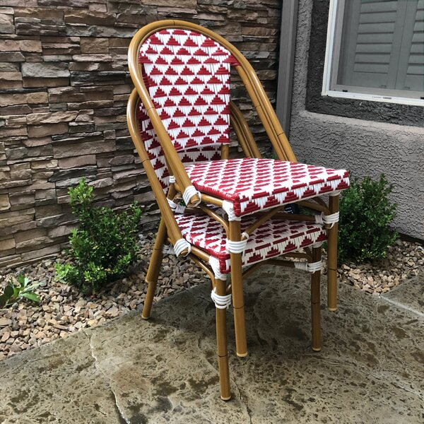 Dirks Stackable Patio Dining Chair by Bungalow Rose
