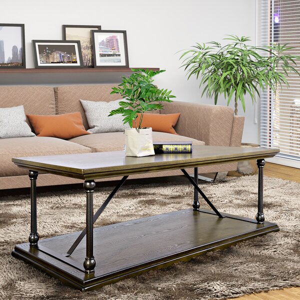 Hubbard Floor Shelf Coffee Table By Williston Forge