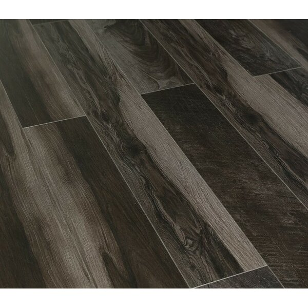Urban View 7 x 49 x 12mm Laminate Flooring in Black (Set of 5) by Christina & Son