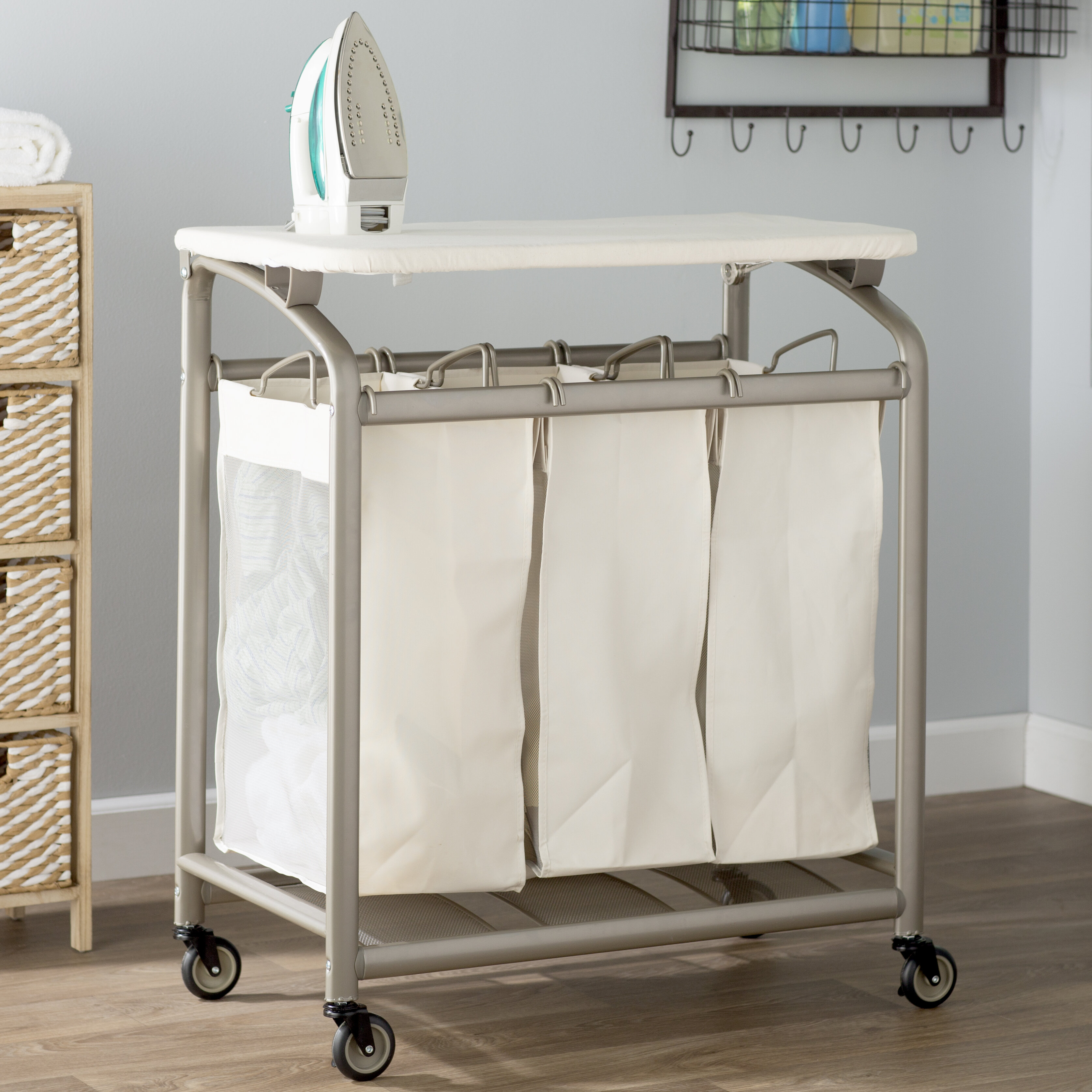 Laundry Sorter Hamper With Folding Table Reviews Wayfair