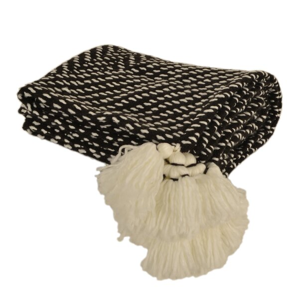 Braedon Tassel Knit Throw by George Oliver