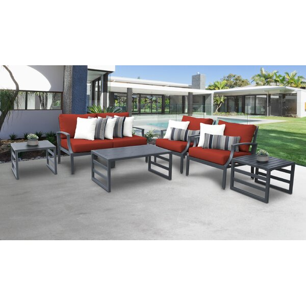 Benner Outdoor 7 Piece Sectional Seating Group with Cushions by Ivy Bronx