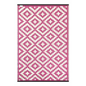 Nirvana Pink/White Indoor/Outdoor Area Rug