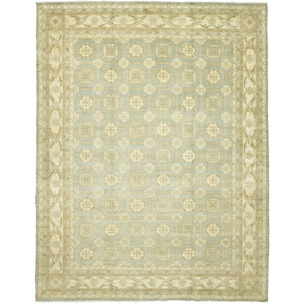 One-of-a-Kind Devan Hand-Knotted Wool Beige/Blue Indoor Area Rug by Isabelline