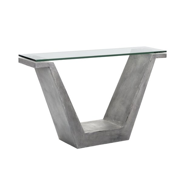 Williston Forge Glass Console Tables