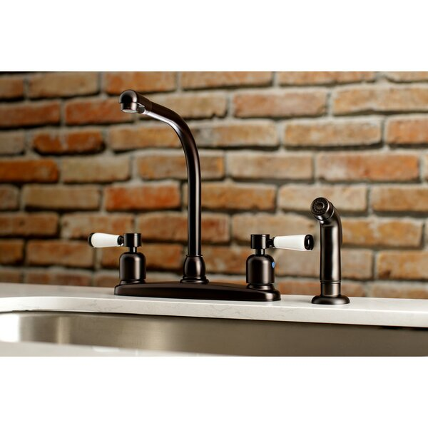 Paris Hot & Cold Water Dispenser Double Handle Kitchen Faucet with Side Spray by Kingston Brass