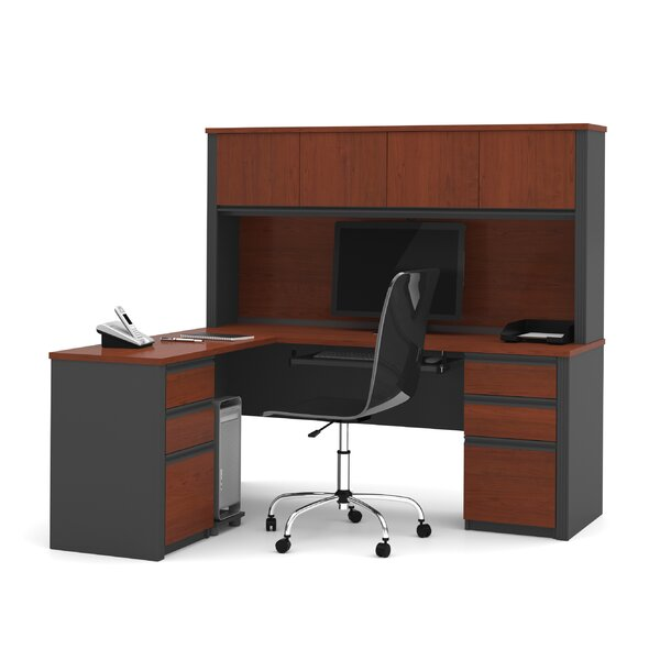 Bormann L-Shape Executive Desk Hutch by Red Barrel Studio
