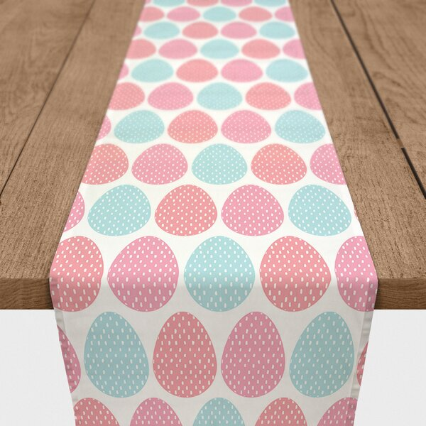 Blackford Easter Eggs Cotton Table Runner by The Holiday Aisle