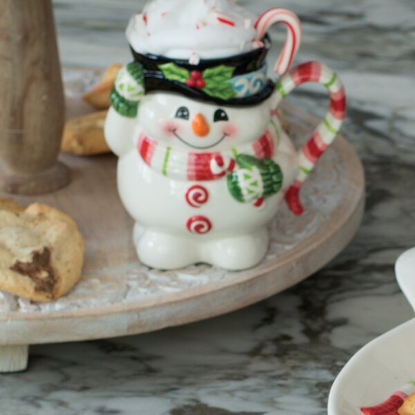 Flurry Folk Snowman Mug by Fitz and Floyd