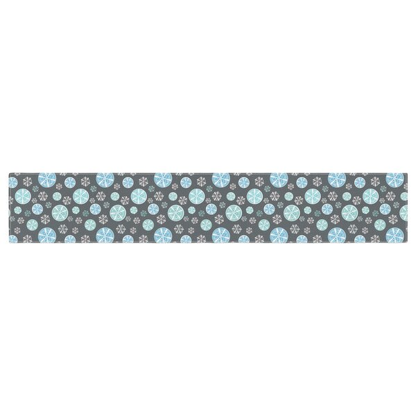 Julie Hamilton Snow Winter Table Runner by East Urban Home