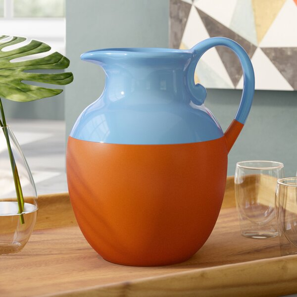 Kilroot Dipped Terracotta Pitcher by Langley Street