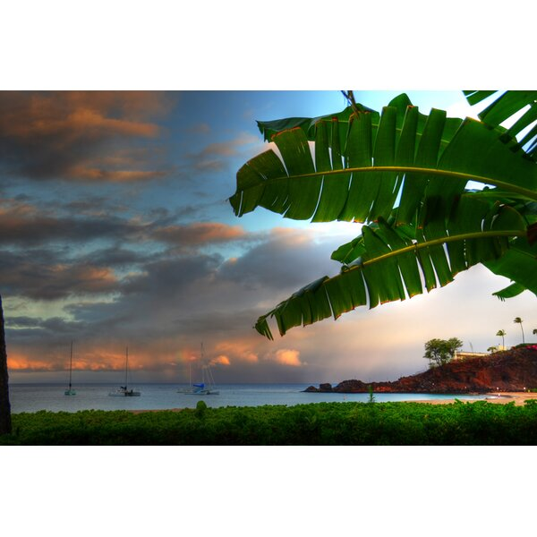 Black Rock Kaanapali Maui by Kelly Wade Photographic Print on Wrapped Canvas by Hadley House Co