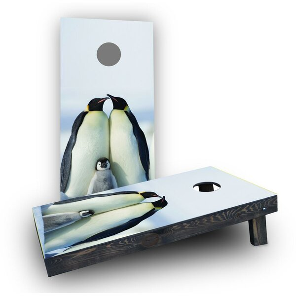 Penguin Family Cornhole Boards (Set of 2) by Custom Cornhole Boards