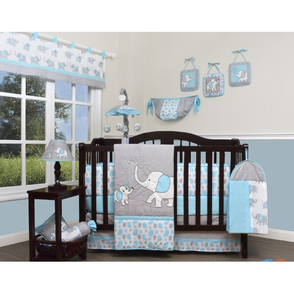 Blizzard Elephant 13 Piece Crib Bedding Set by Geenny
