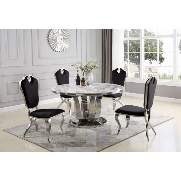 Regis 5 Piece Dining Set by Everly Quinn