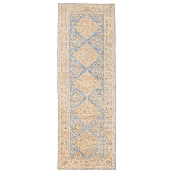 Vegetable Dye Hand-Knotted Blue Area Rug by Herat Oriental
