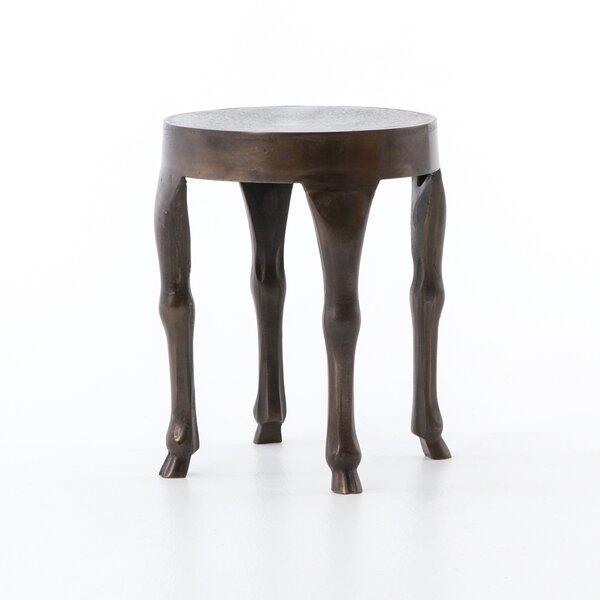 Sanaoubar Aluminum Side Table by Bloomsbury Market
