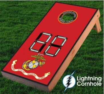 Electronic Scoring Marines Cornhole Board by Lightning Cornhole
