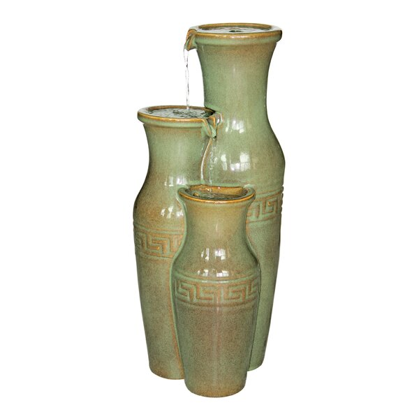 Ceramic Grecian Jars Garden Tiered Fountain by Wildon Home ®